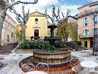 Panoramique 120°-La place de l'église - Bandol ( 83 - France )