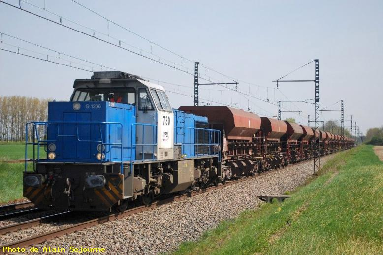 Locomotive diesel allemande de type G 1206 - Sennecey-le-Grand