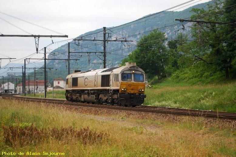 Locomotive diesel Class 77 Euro Cargo Rail - Virieu le Grand