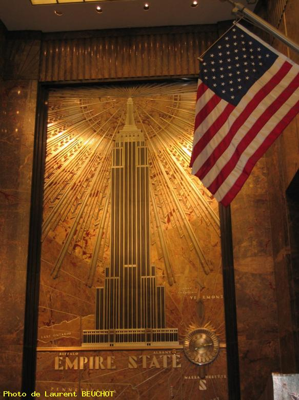 Empire state building - intérieur - new york