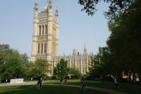 Westminster parlement - Victoria Tower Gardens - Londres