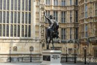Westminster parlement - Statue Richard - Londres