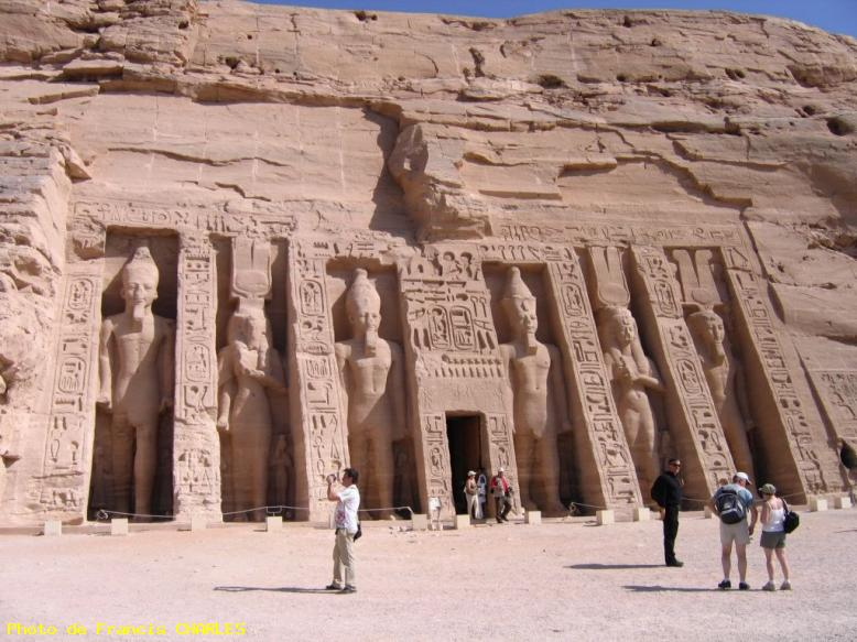 ZOOM : Temple d'abou simbel - Egypte