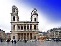 Eglise et place St Sulpice - Paris - ( 75  France )