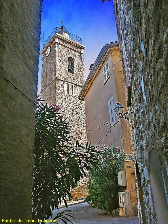 Clocher église St Jacques le Majeur - Mougins - ( Alpes Maritimes - France ) -